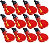 12 Pack of Automatic Poultry Waterer Chicken...