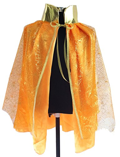 Unisex-child Halloween Costumes Wizard Cloak Pumpkin Spirit Cape Witches Robes (Medium) (Devil Robe Child Costume)