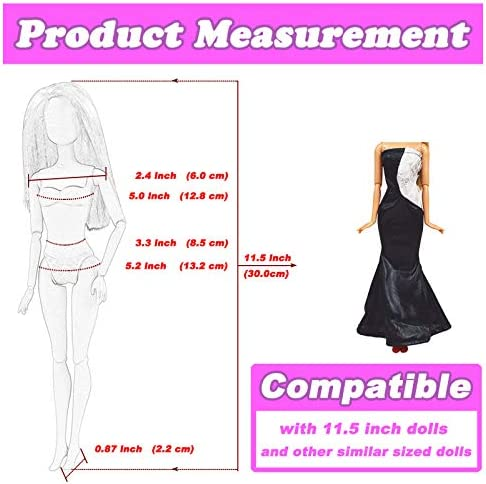 ZHEYISTEP DOLL CLOTHES FOR 11.5 INCH GIRL DOLL 20 PCS CASUAL WEAR CLOTHES AND DOLL ACCESSORIES WITH 10 PAIRS SHOES +10 FASHIONISTA DOLL DRESSES