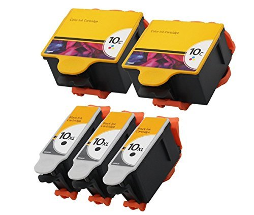ESTON 5 PACK 10 XL Ink Cartridges for Kodak ESP 3 5 7 9 3250 5210 5250 6150 9250