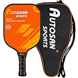 AUTOSAN Pickleball Paddle Graphite Paddles Set or Single with Bag,Balls & EBook Polymer Honeycomb Core Pickleball Paddle Ultra Cushion Grip Low Profile Edge Bundle USAPA Approved Pickleball Paddle