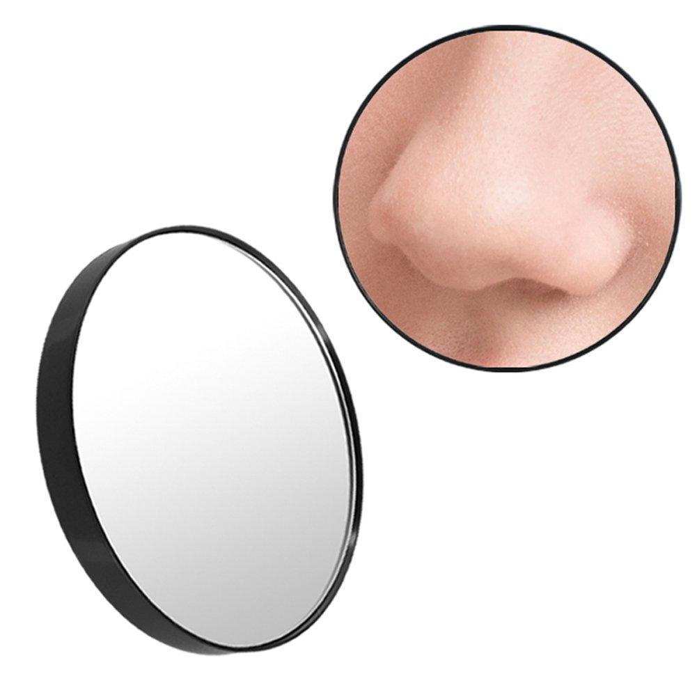 Owikar 15x Loupe Maquillage Miroir grossissant avec ventouse ronde Miroir de maquillage 8,9cm Miroir de courtoisie pour rasage sur Têtes de maquillage, DE SALLE DE BAIN, chambre à coucher