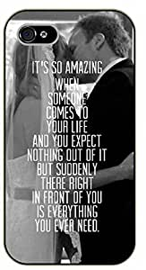 iPhone 5C It's so amazing when someone comes to your life and you expect nothing... is everything. Love - black plastic case / Inspirational and motivational by icecream design