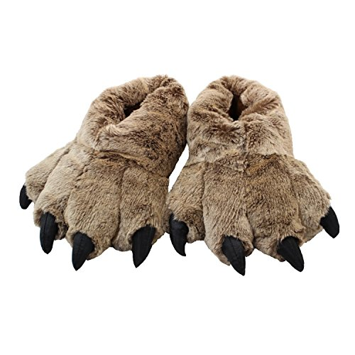 (Timber Wolf Slippers (Small/Toddler) Brown)
