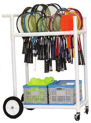 Champion Sports All Terrain Abs Racket Cart (White, 32.5 x 19 x 35-Inch) ()