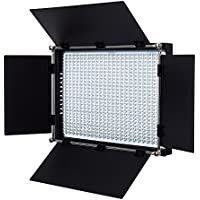Fovitec - 1x Bi Color 650 LED Panel w/Barndoor & Filters - [90+ CRI][Continuous Lighting][Entry Level Friendly][NP-F Compatible][3200-5600K Range]