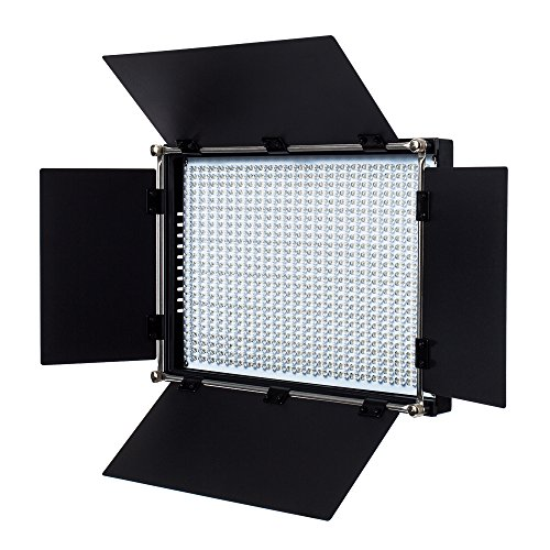 - Fovitec - 1x Bi Color 650 LED Panel w/Barndoor & Filters - [90+ CRI][Continuous Lighting][Entry Level Friendly][NP-F Compatible][3200-5600K Range]