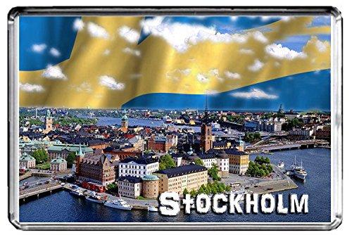 GIFTSCITY E048 STOCKHOLM FRIDGE MAGNET SWEDEN TRAVEL PHOTO REFRIGERATOR MAGNET