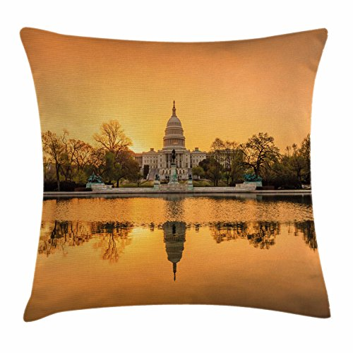 Ambesonne United States Throw Pillow Cushion Cover, Washington