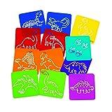 Dinosaur Stencils - Stencils & Rubbing Plates - 12 per Pack
