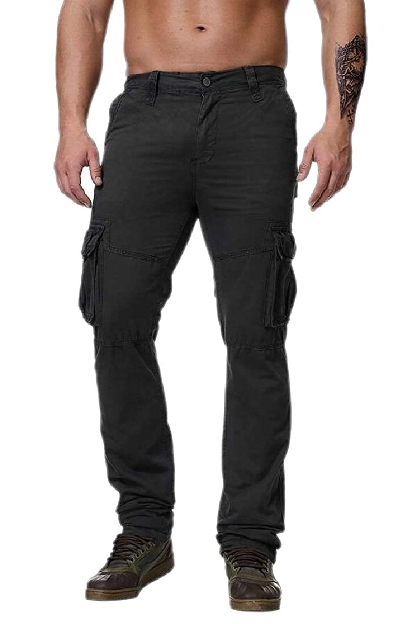 ZXFHZS Men Military Pants Casual Tactical Combat Cargo Trousers with Pockets