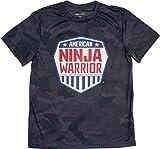 American Ninja Warrior Kids Camo Performance T-Shirt-Grey-Small