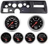 Classic Dash 104700211 Chevelle SS Black Dash Carrier Panel w/ AM Sport Comp Electric Gauges TR