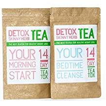 14 Day Teatox: Detox Skinny Herb Tea - Body Cleanse / Reduce Bloating / Natural Weight Loss Tea / Speed up your Metabolism / Appetite Suppressant / 100% NATURAL