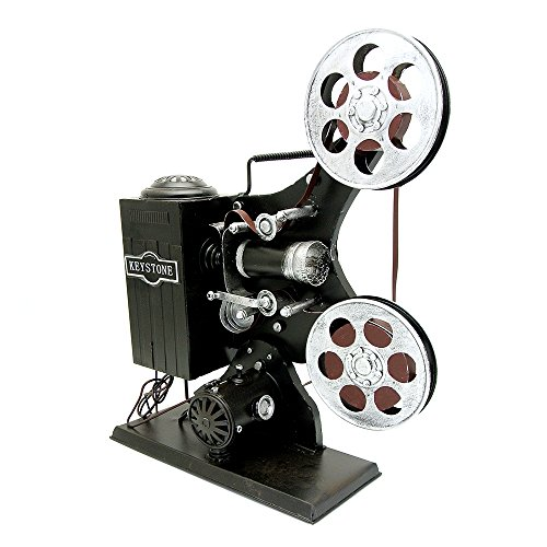 NAVAdeal Vintage Movie Film Projector Prop Handcraft Models Ornament for Photograph Studio/ Wedding/ Cafe Coffee Shop/ Bookstore / Home/ Theme Party Decoration