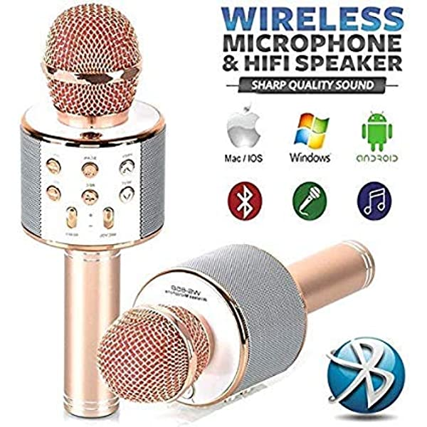 foulon Wireless Bluetooth Microphone Audio Mobile Phone Karaoke Microphone