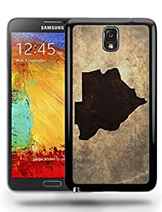 Botswana National Vintage Country Landscape Atlas Map Phone Case Cover Designs for Samsung Galaxy Note 3