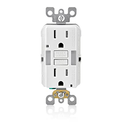 Leviton GFNL1-W R02-Gfnl1-00W Self-Test Tamper Duplex Gfci Receptacle on