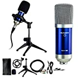 The SCM-700 8-piece Condenser Microphone Recording Kit - Ideal for Podcasting, voice-over, online videos, and recording with smartphones and tablets.
