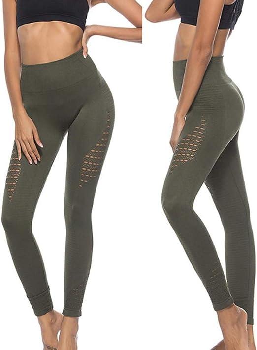 Amazon.com: Fafalisa Leggins Deporte Mujer Fitness Sin ...