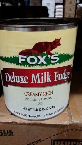 Fox's Deluxe Milk Fudge 7 Lb 12 Oz (6 Pack Case) by Fox's