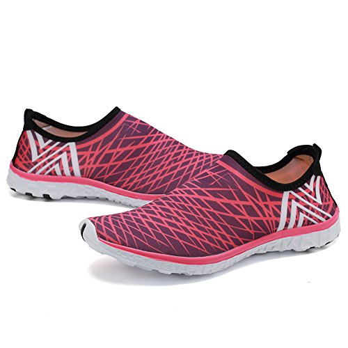 Cior Fantiny Mujeres Quick Drying Aqua Water Zapatos Malla Slip-on Athletic Sport Casual Sneakers Para Hombres V-pink