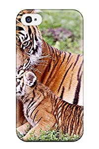 Premium Protection Tiger & Baby Tiger Case Cover For Iphone 4/4s- Retail Packaging