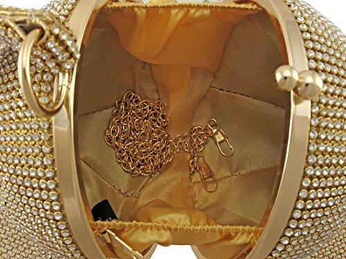Zeckos, Borsetta da polso donna oro Gold