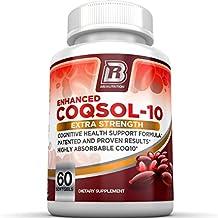 BRI Nutrition COQ10 Ubiquinone - 2.6x Higher Total Coenzyme Q10 COQSOL® Absorption than normal COQ10-100mg Maximum Strength Supplement - 60 Day Supply 60 Softgels