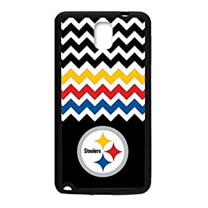 RAROFU Chevron Pittsburgh Steelers Custom Case for Samsung Galaxy Note 3 (Laser Technology)