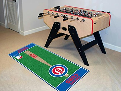 Fanmats Chicago Cubs Baseball Runner - Mlb Cubs Rug Tufted Chicago