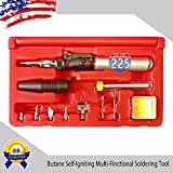10 in 1 Multi-Functional Butane Gas Soldering Iron/Heat Gun/Blow Torch Kit USA