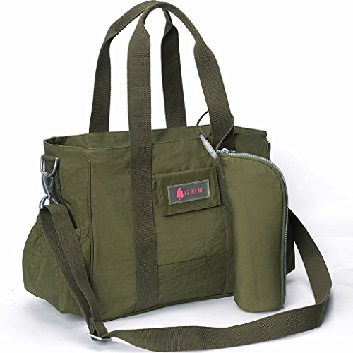 Mummy Bag / Multi-funcional Mochila Femenina De Alta Capacidad / Mujeres Maternales / Embarazadas Fuera De Paquete Para Ser Paquete De Producción / Paquete Diagonal ( Color : Classic Black ) Verde militar
