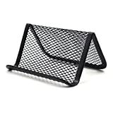 Aspire Bulk Black Mesh Business Card Holder Desk Memo Cards Display Desktop Collection Accessories-Black-200 PCS