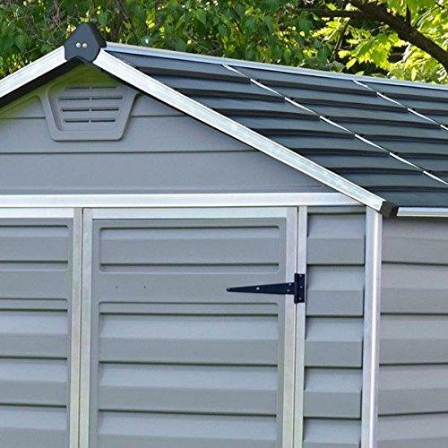 6 x 8 Palram SkyLight de plástico gris Shed - Plástico cobertizos - Cobertizos: Amazon.es: Jardín
