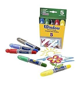 Crayola Washable Window Crayons - 5-count, (2 Pack)