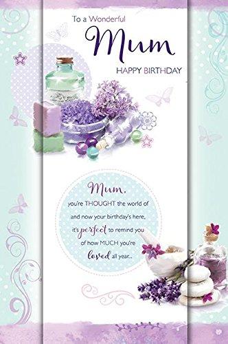 Tarjeta de felicitación de cumpleaños con texto en inglés