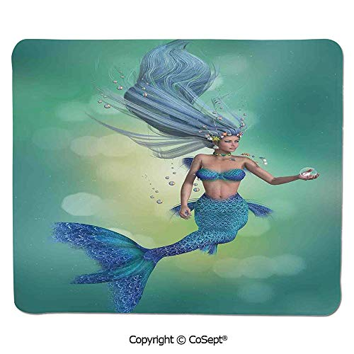 Quality Selection Comfortable Mouse Pad,Mermaid Upper Body of a Woman and The Tail of a Fish for Swimming,for Laptop,Computer & PC (15.74