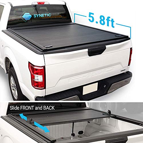 Syneticusa Aluminum Roll-Up Retractable Low Profile Hard Tonneau Cover for