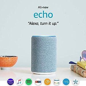 Best Epic Trends 51F2kOuz35L._SS300_ Certified Refurbished Echo (3rd Gen) - Smart speaker with Alexa - Twilight Blue