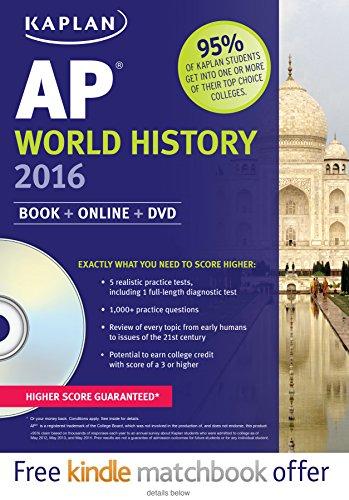 Kaplan AP World History 2016: Book + DVD (Kaplan Test Prep)
