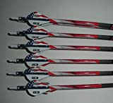 Easton ST Axis N Fused 340 Carbon Arrows w/Blazer Vanes Wraps 1 Dz.