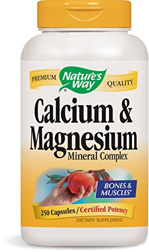 Nature's Way Calcium and Magnesium, 250 Capsules
