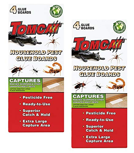 Tomcat Household Pest Glue Boards, (For Roaches, Insects, Scorpions, and Spiders) (2 Pack)