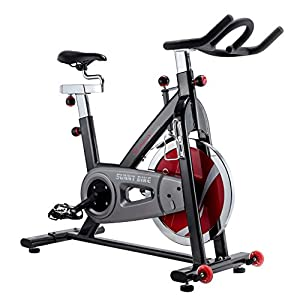 Sunny Health & Fitness SF B1002C Chain Drive Indoor Cycling Bike, Grey