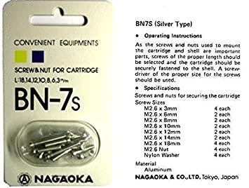 Nagaoka BN-7S cartucho tornillos de montaje de plata: Amazon.es ...