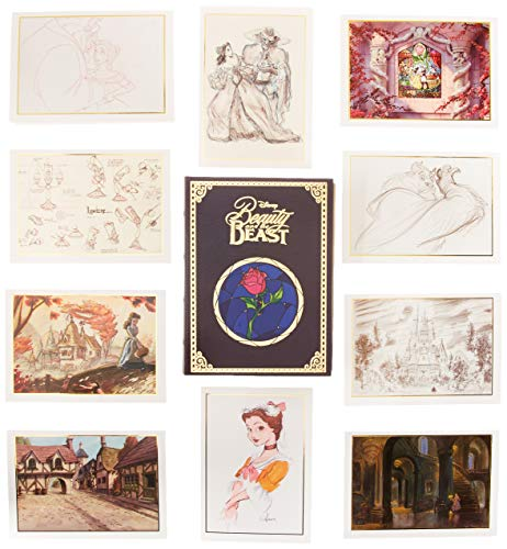 Enesco Walt Disney Archives Beauty and The Beast Gift Boxed Notecard Set, Multicolor ()