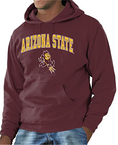 Campus Colors Arizona State Sun Devils Arch & Logo Gameday Hooded Sweatshirt - Maroon, Medium