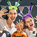 Halloween Headband Witch Leg Boppers Feet Hairband 6 Pack Family Friendly Dress up Costume Party Favor Supplies Decoration Accessories for Adults Women Men Girls Boys and Kids by Gift Boutique