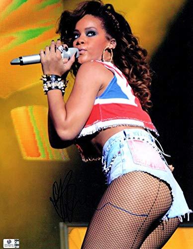 Rihanna Signed Autographed 11X14 Photo Sexy Singing Fishnet Stockings - Fishnet Company